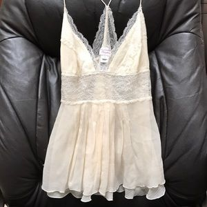 Diane Von Furstenberg Lace Silk Cami size 4